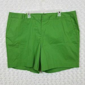 Talbots Woman 22W Shorts Kelly Green Pockets